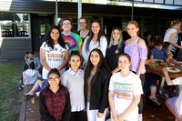K1805 - Girls at the centre, Bairnsdale Secondary College, December 7, 2016