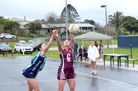 "S184 - EGFNL Orbost v Lakes Entrance ""A"" and ""B"" Netball, June 18, 2016"