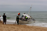 K1812 - Boat Stranded on the Beach, December 14